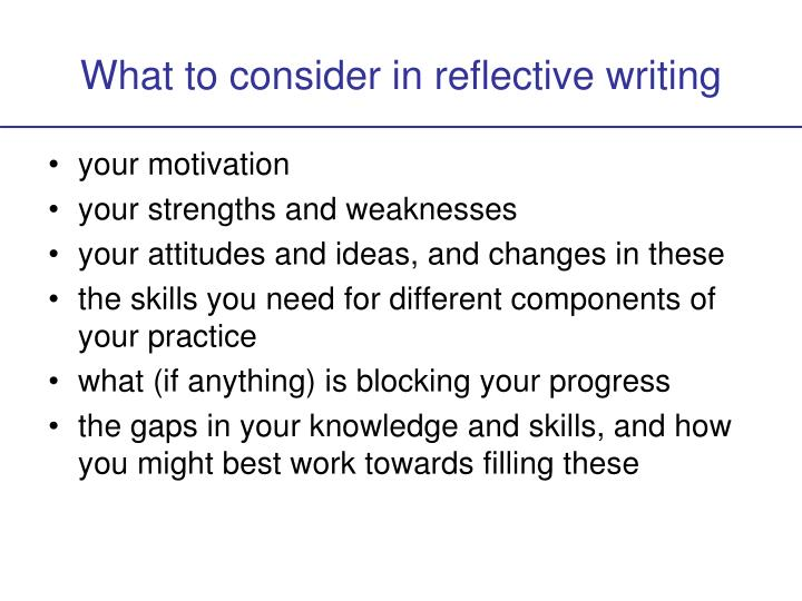 defining and implementing reflective practice essay