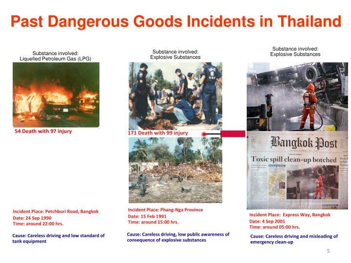 Past Dangerous Goods Incidents in Thailand