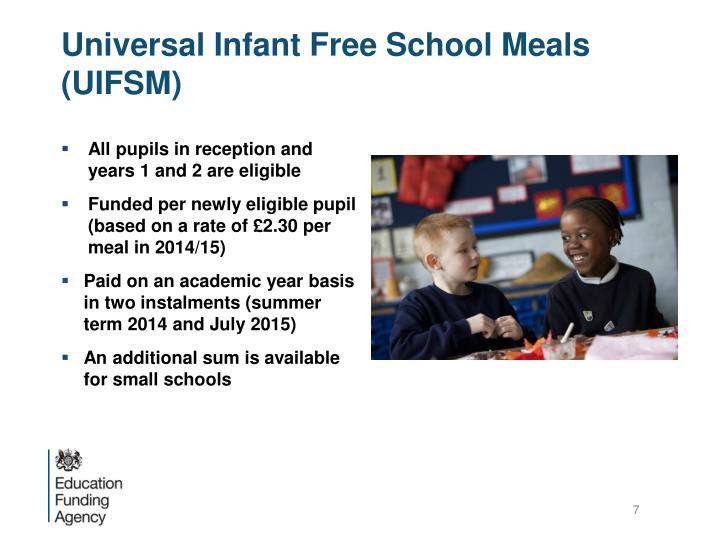 Universal Infant Free School Meals (UIFSM)