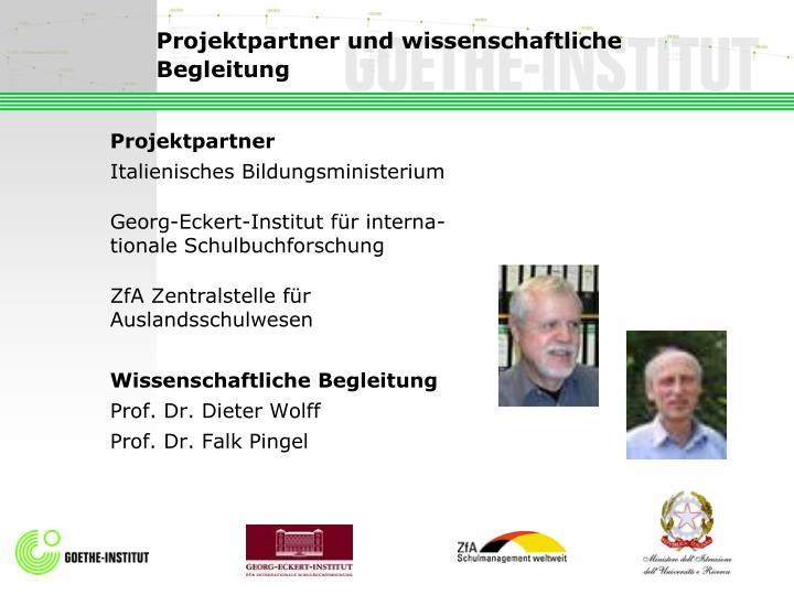 Projektpartner und wissenschaftliche Begleitung