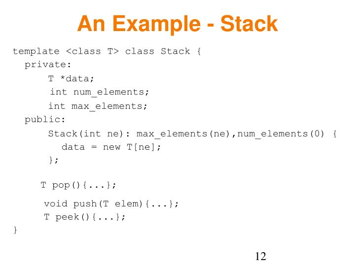 An Example - Stack