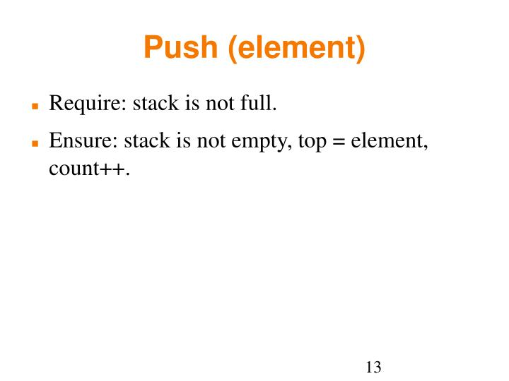 Push (element)