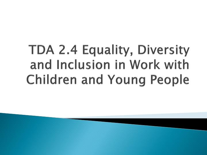 Tda 2 Safeguarding the Welfare of Children and Young People.