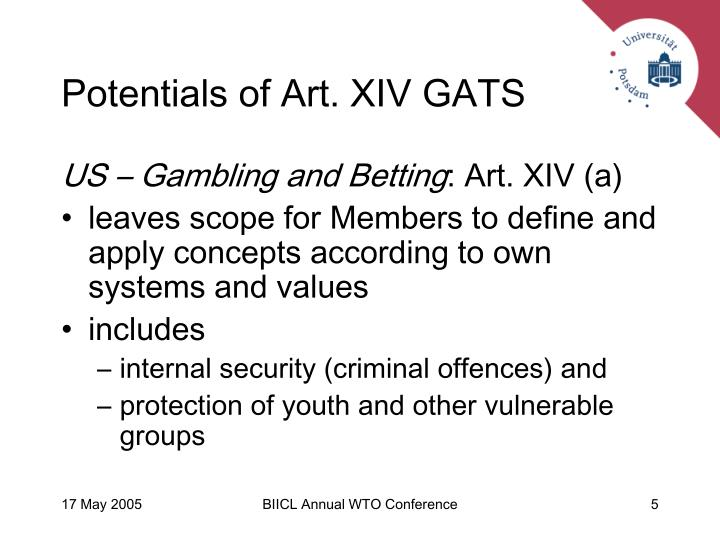 Potentials of Art. XIV GATS