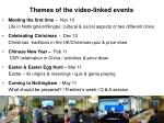 themes of the video linked events