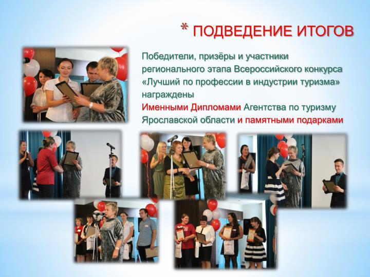 Победители, призёры и участники регионального этапа Всероссийского конкурса «Лучший по профессии в индустрии туризма»