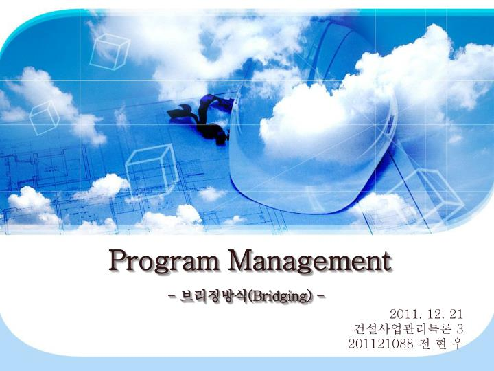 Program management bridging