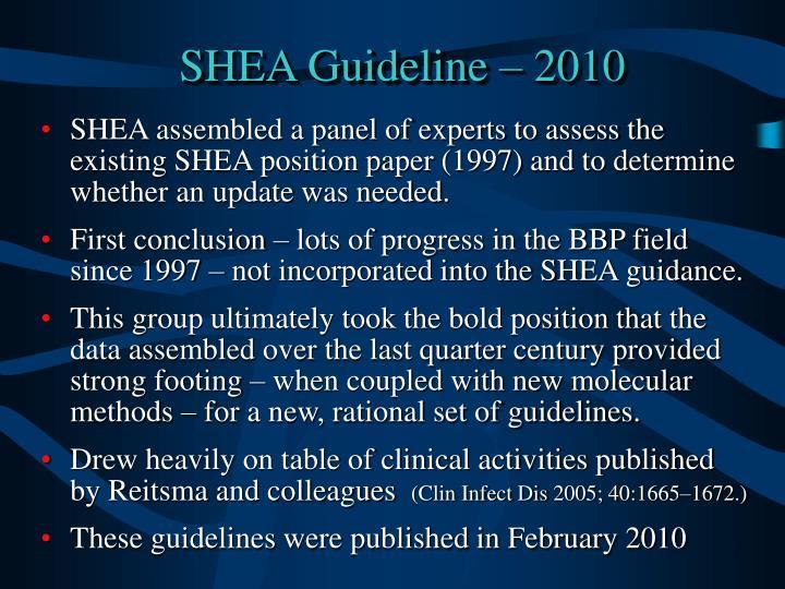 SHEA Guideline –