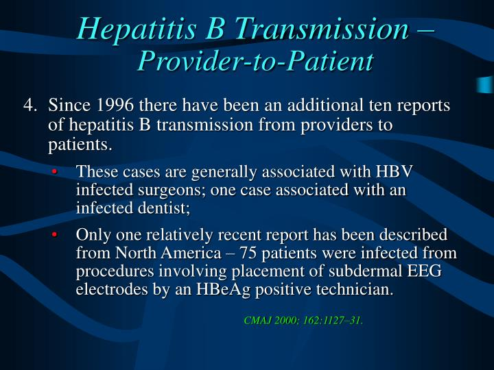 Hepatitis B Transmission –