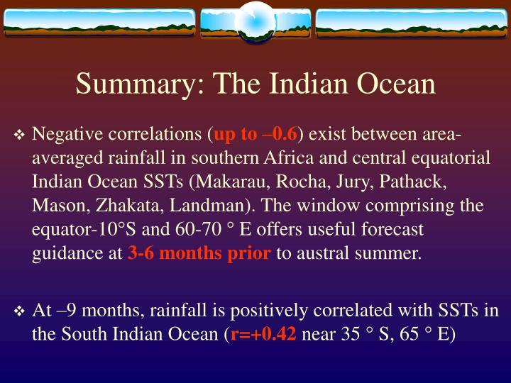 Summary: The Indian Ocean