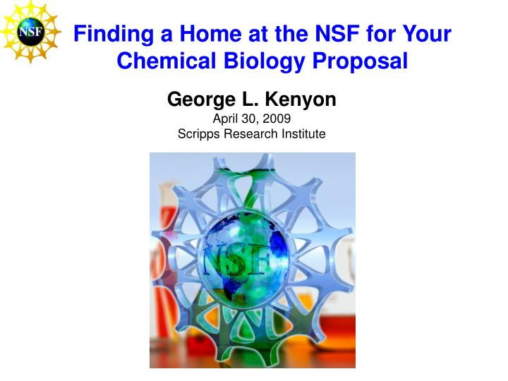 Finding a home at the nsf for your chemical biology proposal