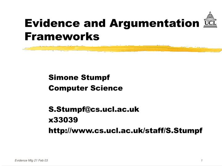 Evidence and argumentation frameworks