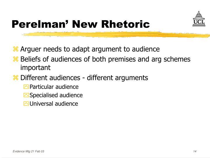 Perelman' New Rhetoric