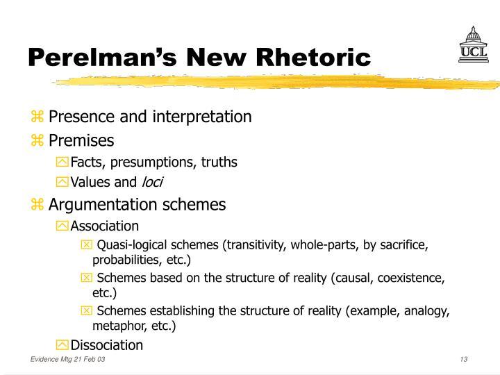 Perelman's New Rhetoric