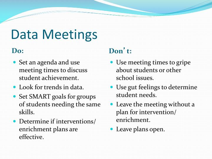 Data Meetings