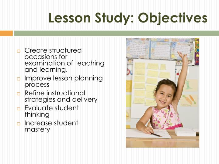 Lesson Study: Objectives