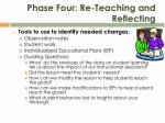 phase four re teaching and reflecting1