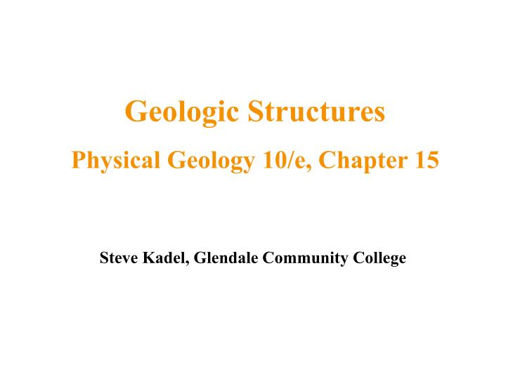 Geologic Structures