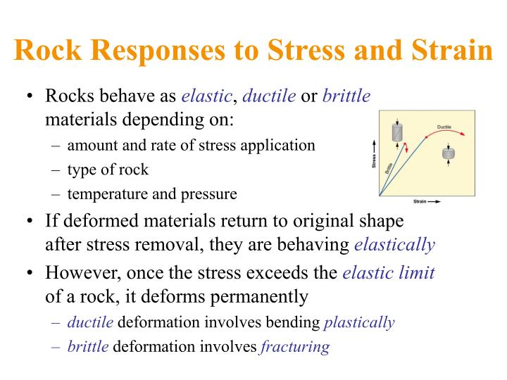 Rock Responses to Stress and Strain