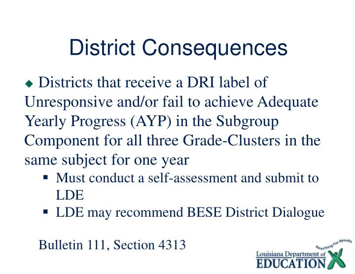 District Consequences
