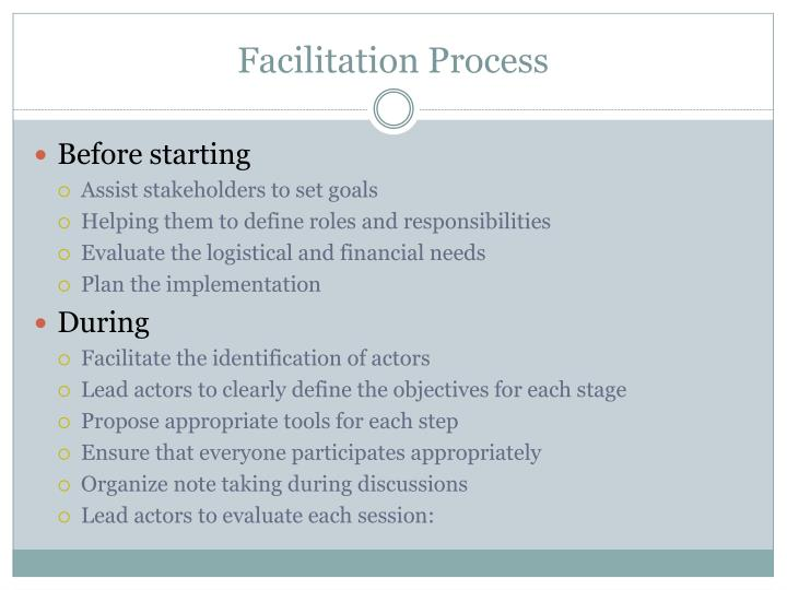 Facilitation Process