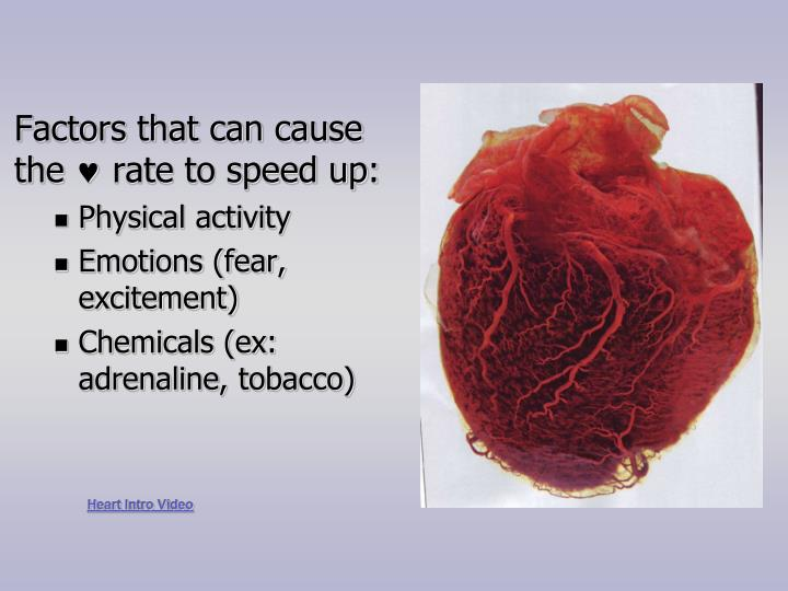 Factors that can cause the