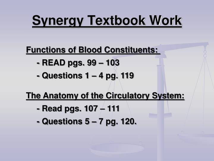Synergy Textbook Work