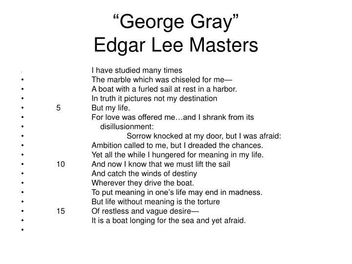 """George Gray"""