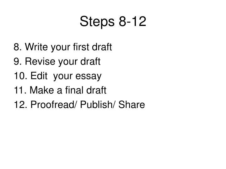 Steps 8-12