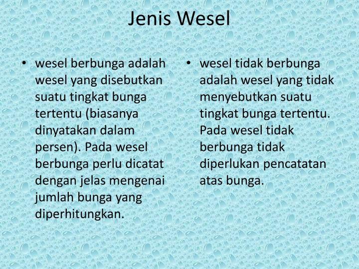 Jenis Wesel