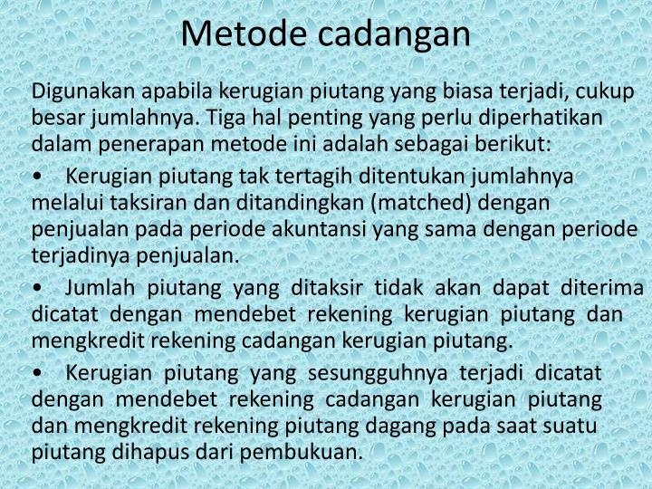 Metode cadangan