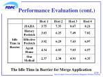 performance evaluation cont2