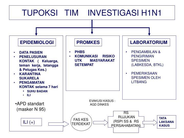 TUPOKSI   TIM    INVESTIGASI H1N1