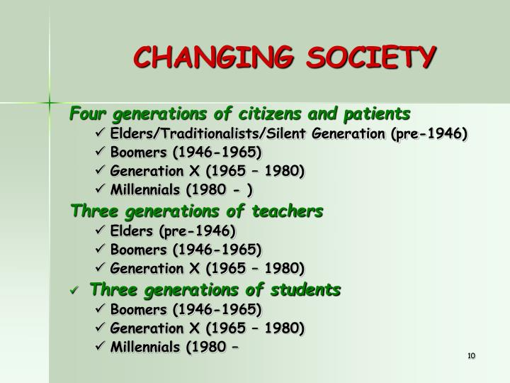 CHANGING SOCIETY