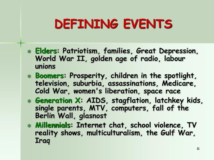 DEFINING EVENTS