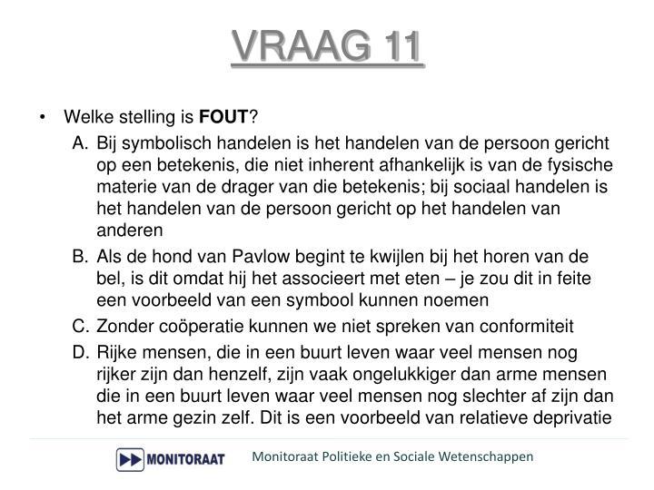 VRAAG 11