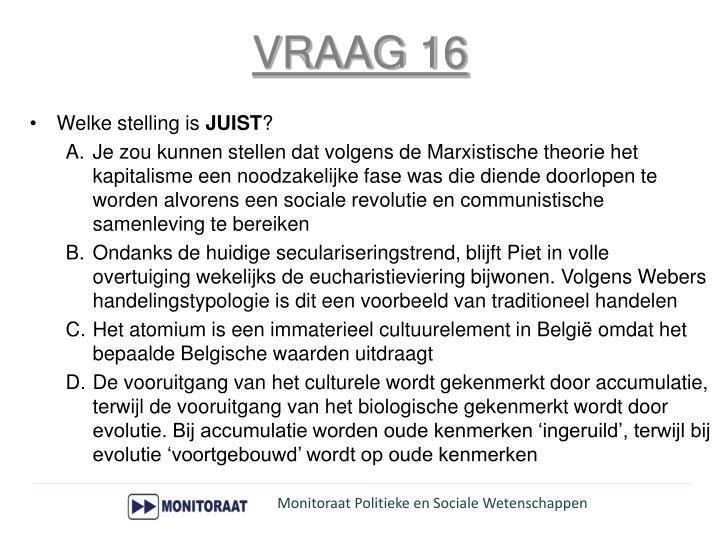 VRAAG 16