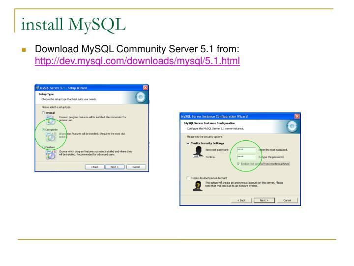 install MySQL