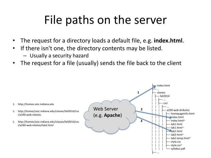 File paths on the server