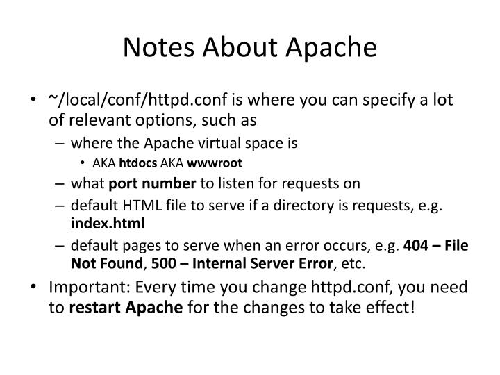 Notes About Apache