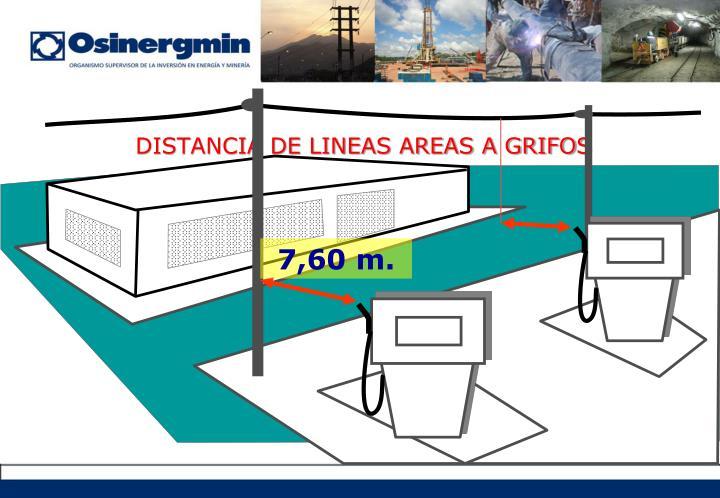 DISTANCIA DE LINEAS AREAS A GRIFOS