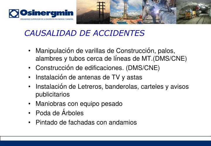 CAUSALIDAD DE ACCIDENTES