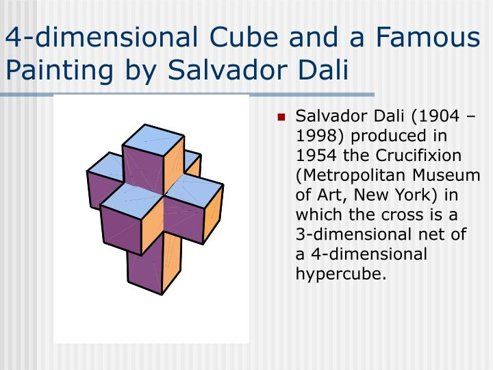 4-dimensional Cube and a Famous Painting by Salvador Dali