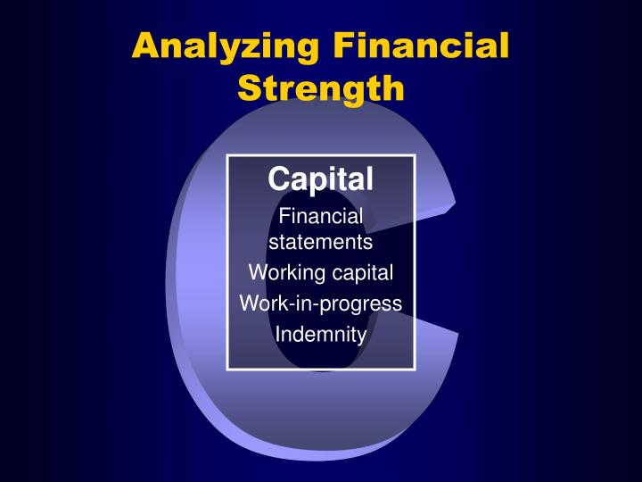 Analyzing Financial Strength