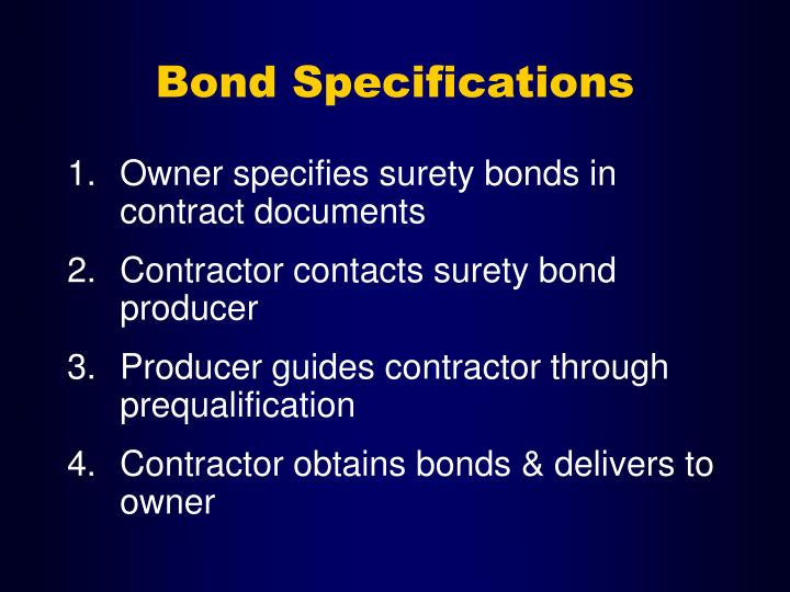 Bond Specifications