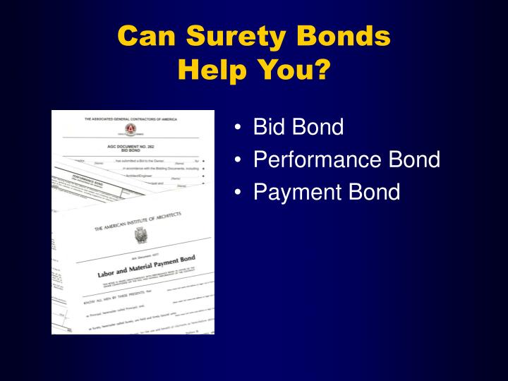 Can surety bonds help you1