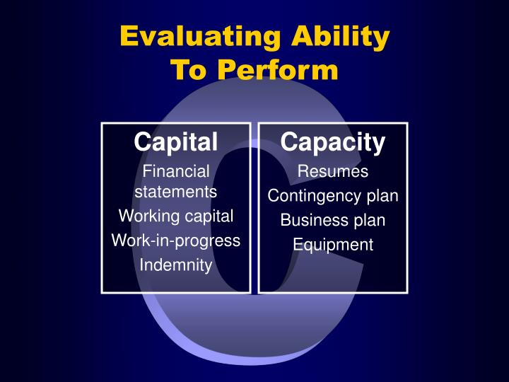 Evaluating Ability