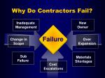 why do contractors fail