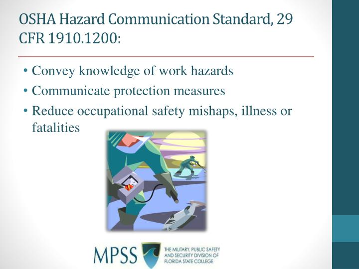 OSHA Hazard Communication Standard,