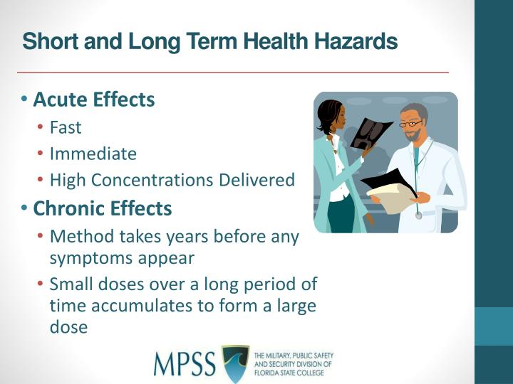 Short and Long Term Health Hazards